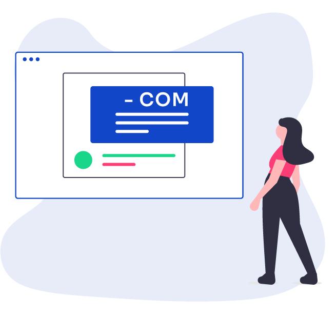 Illustrazione donna cerca sul web come fare modello Naspi Com Online 2021